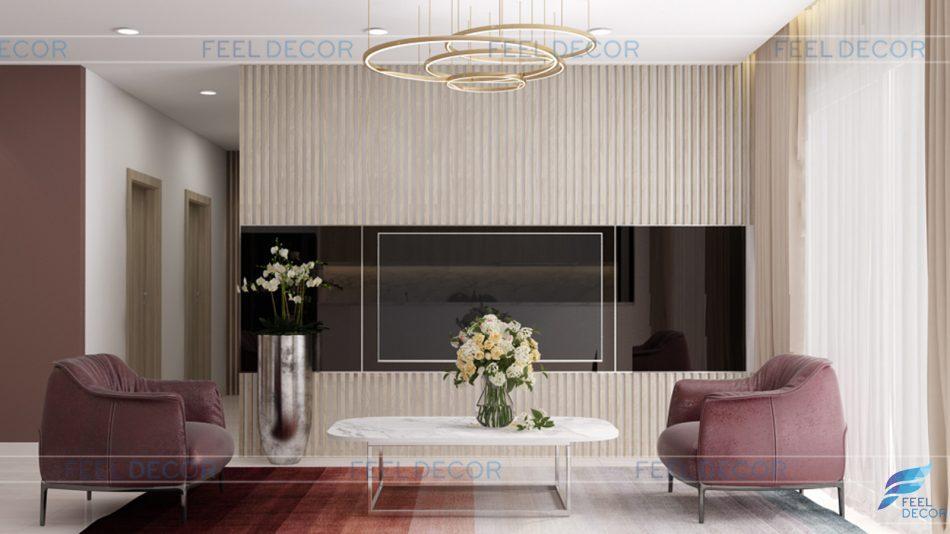 Thiết kế thi công nội thất căn hộ 110m2 chung cư Saigon Royal – Chủ đầu tư Chị Quỳnh