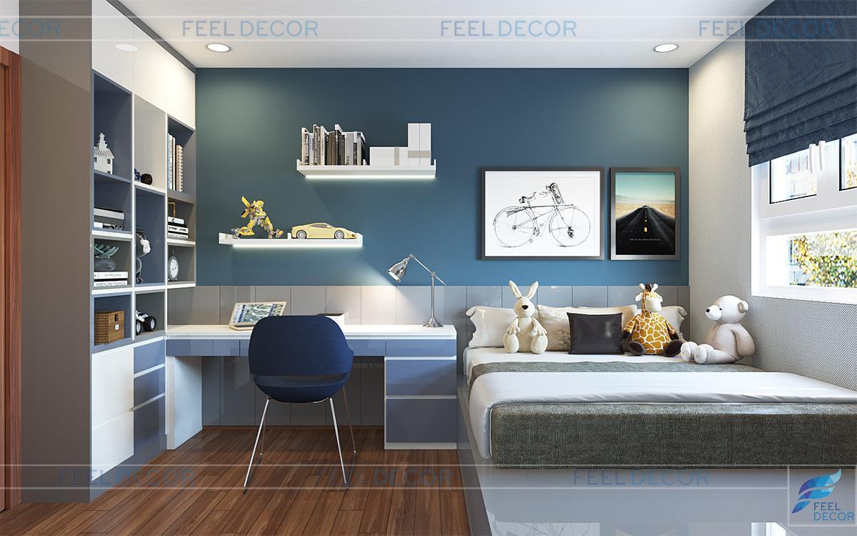 Thiết kế nội thất phòng ngủ cho trẻ em căn hộ CityLand ParkHill