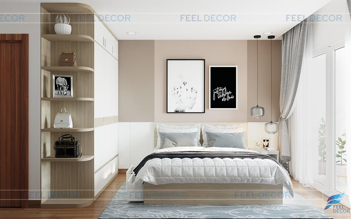 Thiết kế nội thất phòng ngủ Master căn hộ CityLand ParkHill