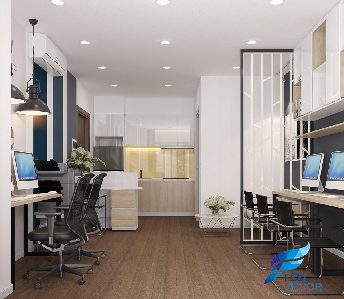 Thiết kế thi công nội thất căn hộ Officetel 30m2 CC Millennium Masteri