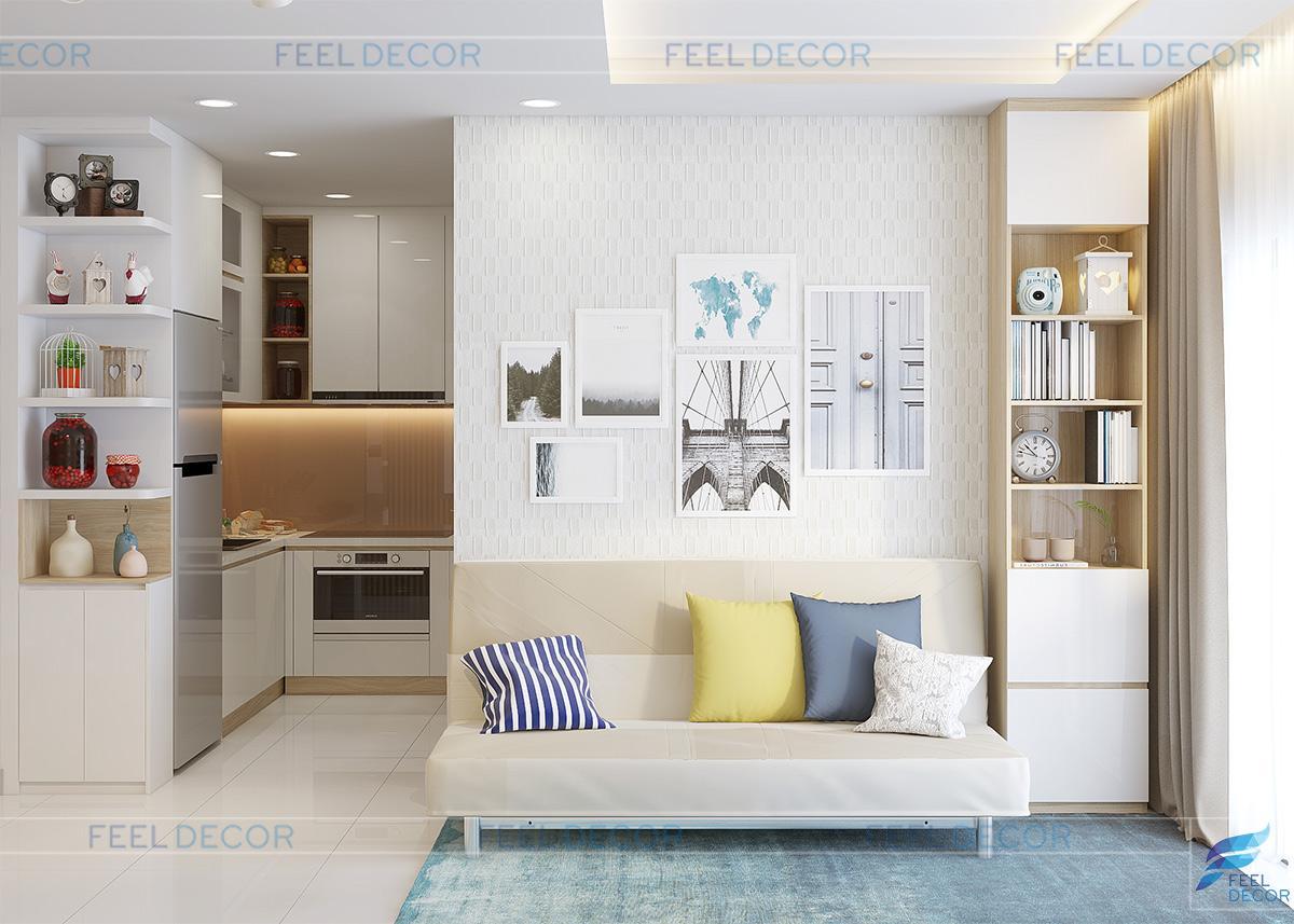 Không gian nội thất phòng khách đa chức năng