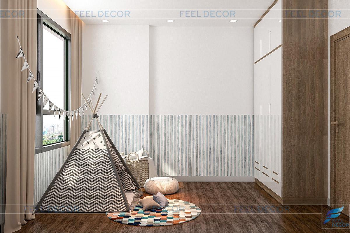 Thiết kế thi công nội thất căn hộ 71m2 chung cư Sunrise Riverside – Chủ sở hữu Chị Linh