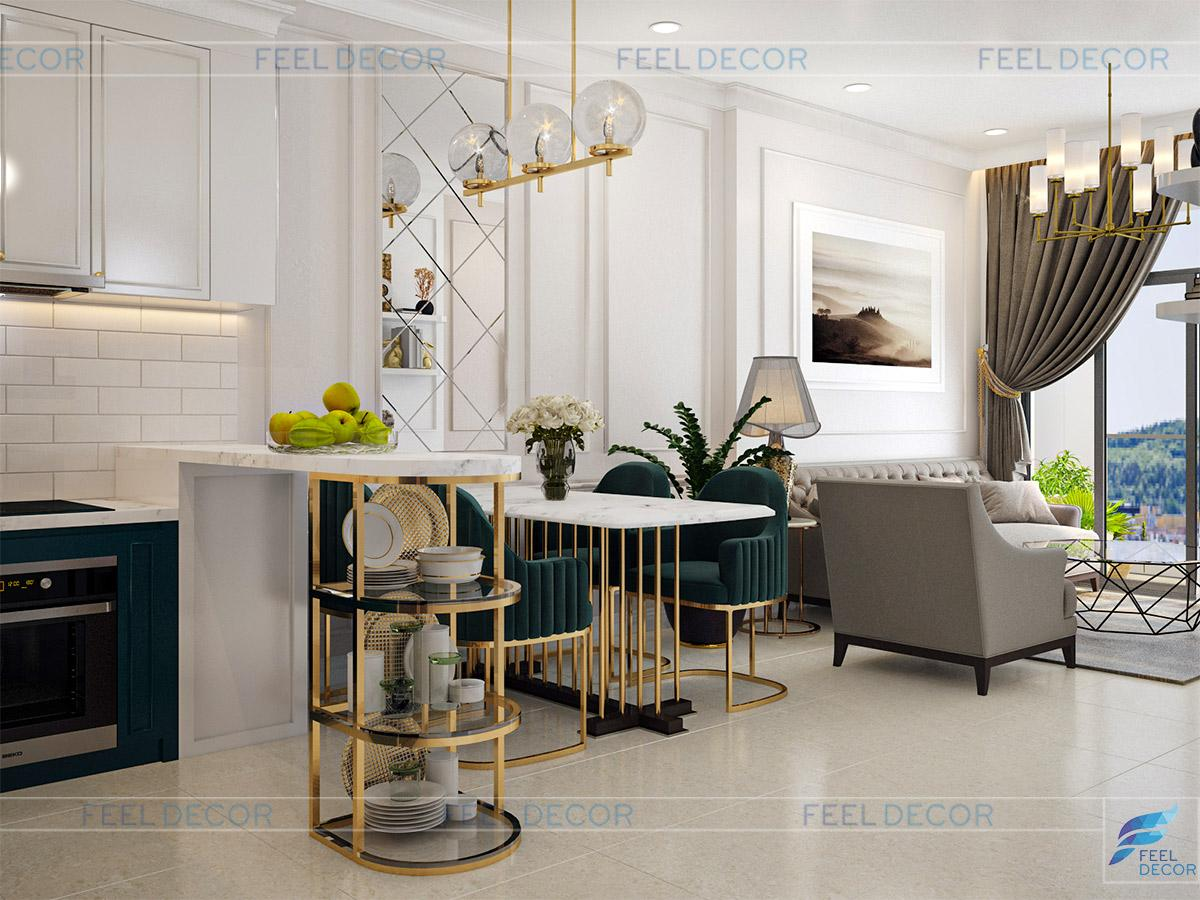 Thiết kế thi công nội thất căn hộ 73m2 chung cư Golden Mansion – Chủ đầu tư Cô Tú