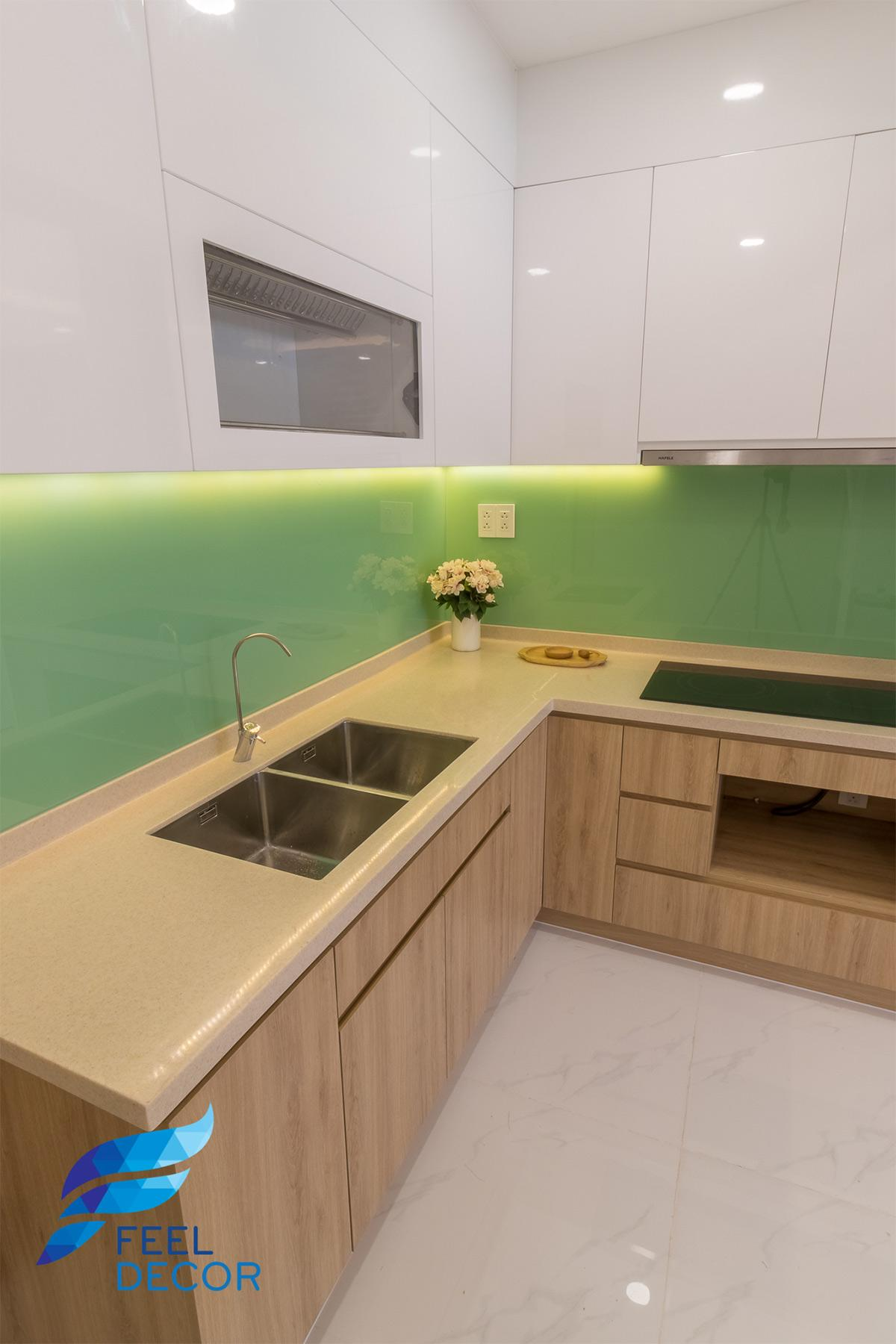 Thiết kế thi công nội thất căn hộ 73m2 chung cư Miếu Nổi – Chủ đầu tư Chị Vân