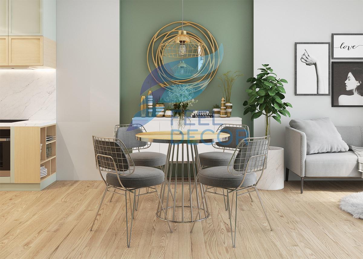Thiết kế nội thất phòng khách căn hộ 79m2 chung cư Kingston Residence