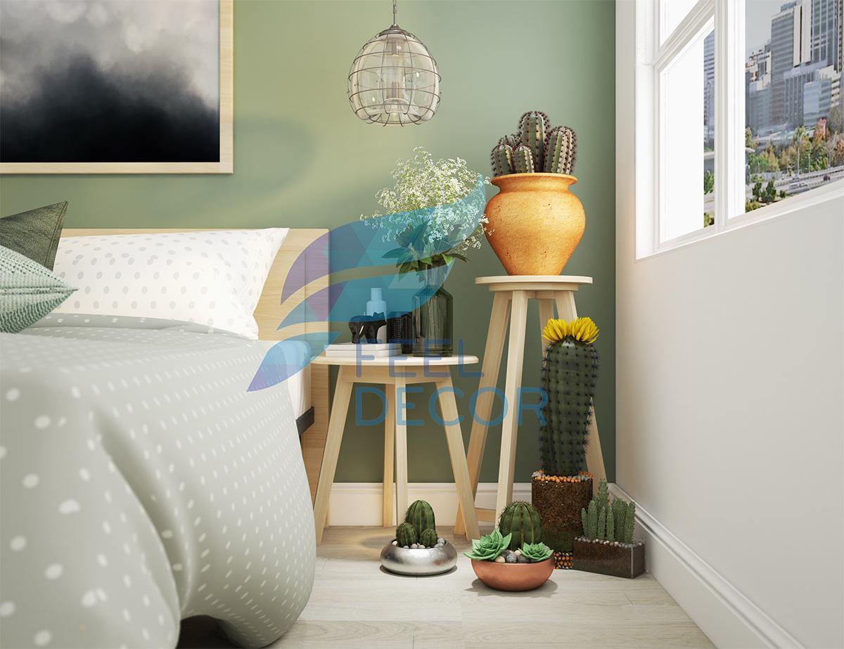 Thiết kế nội thất phòng ngủ Master căn hộ 79m2 chung cư Kingston Residence