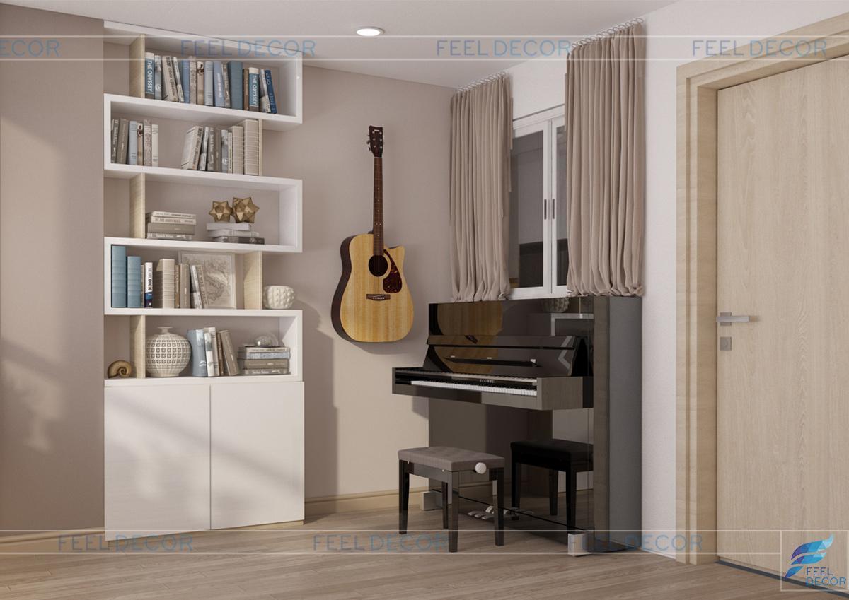 Thiết kế nội thất phòng ngủ Master đẹp nhẹ nhàng, thanh lịch