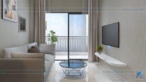 Thiết kế thi công nội thất căn hộ 80m2 – 2 phòng ngủ chung cư The Sun Avenue NovaLand – Chủ đầu tư chị Dung