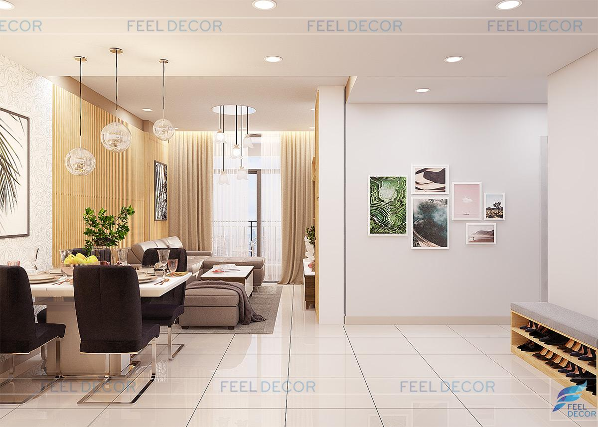 Mẫu phòng khách đẹp tại căn hộ chung cư Wilton Tower 65-93m2