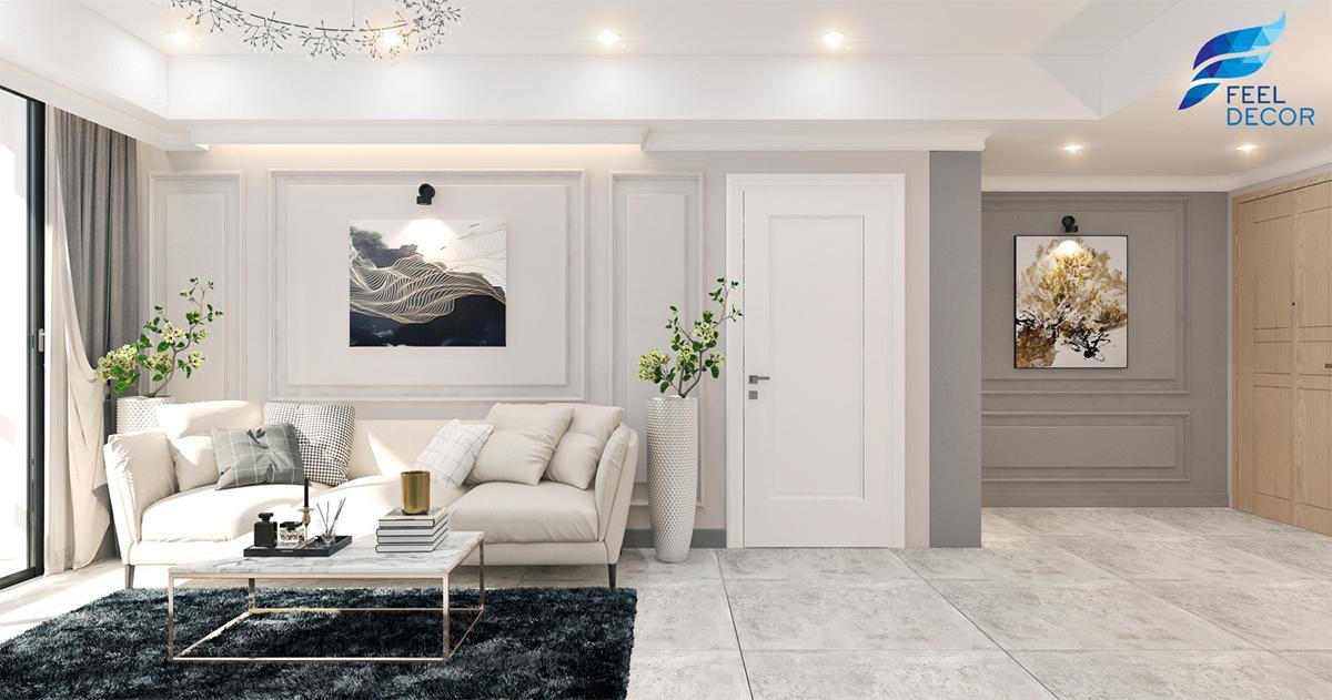 Thiết kế nội thất căn hộ 85m2 2 phòng ngủ chung cư The Everrich Infinity