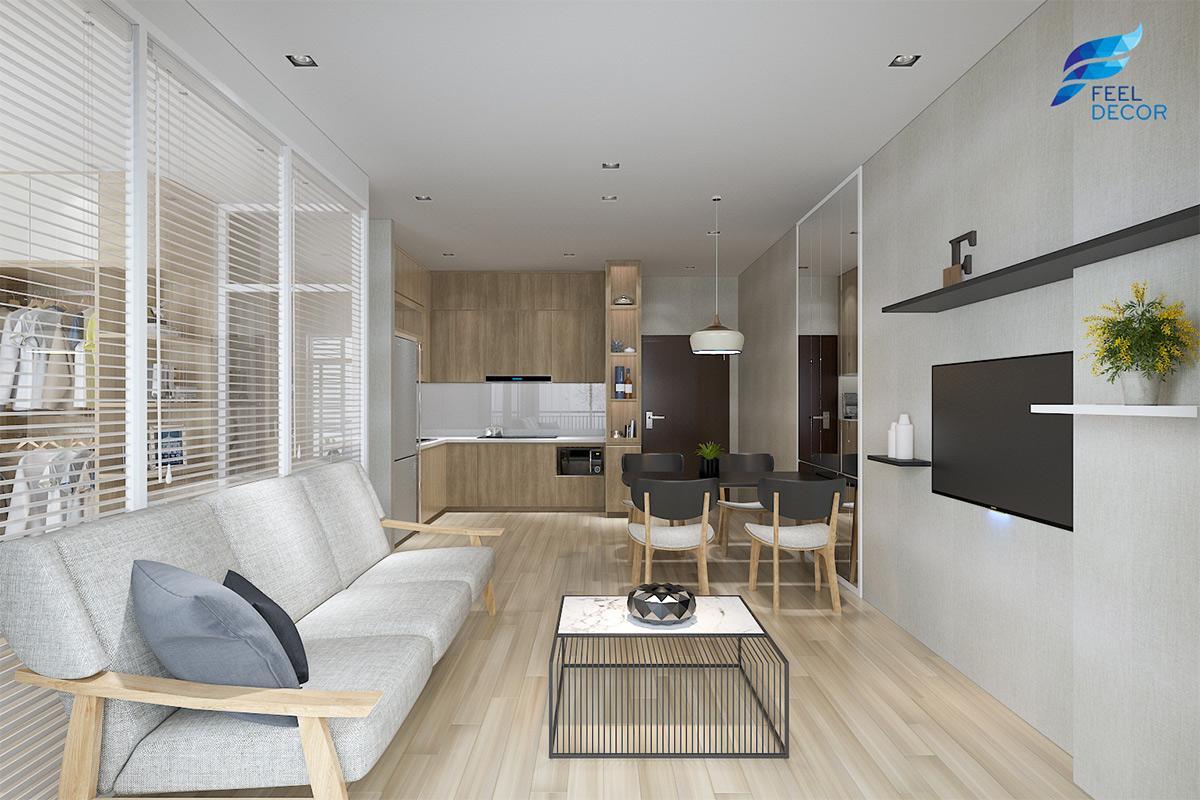 Thiết kế thi công nội thất căn hộ 89m2 (3PN) chung cư Sunrise Riverside