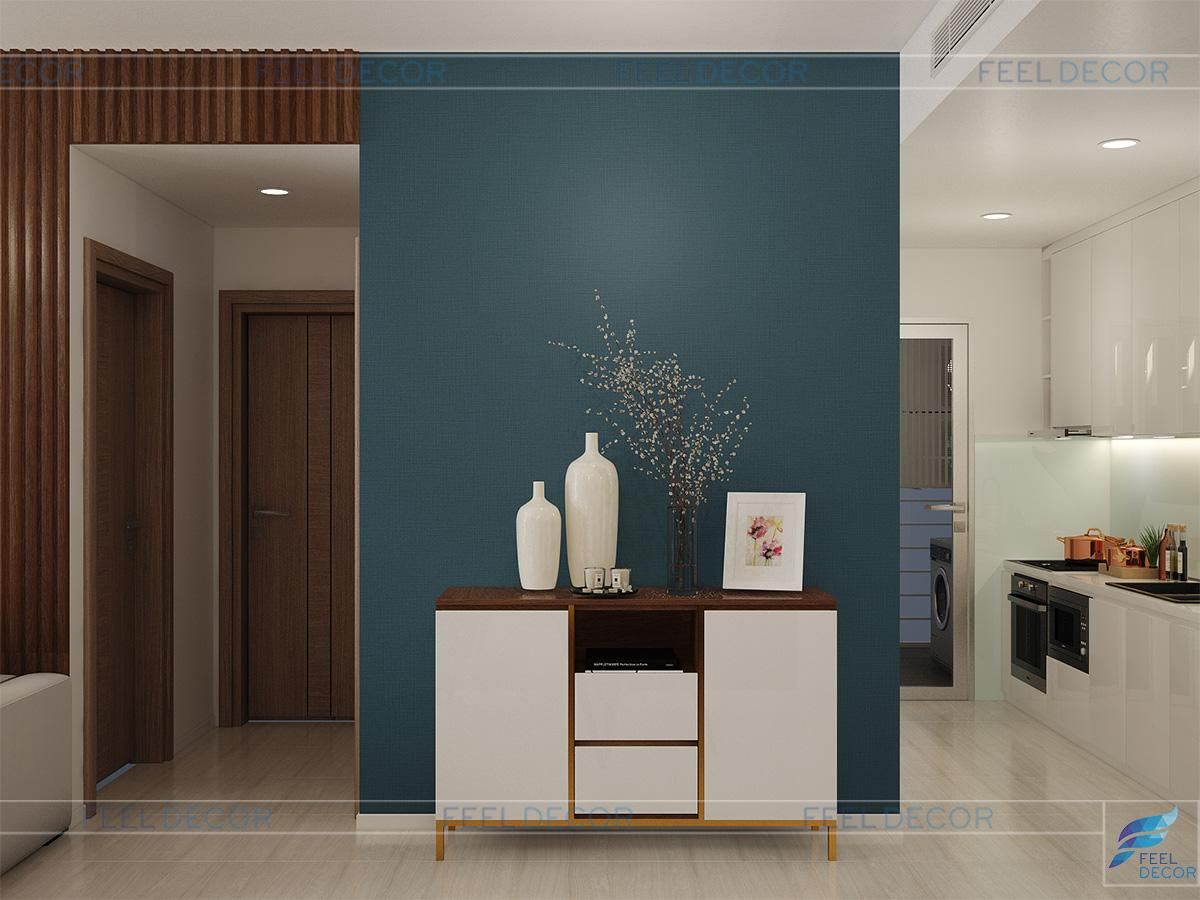 Thiết kế thi công nội thất căn hộ Sadora Sala.