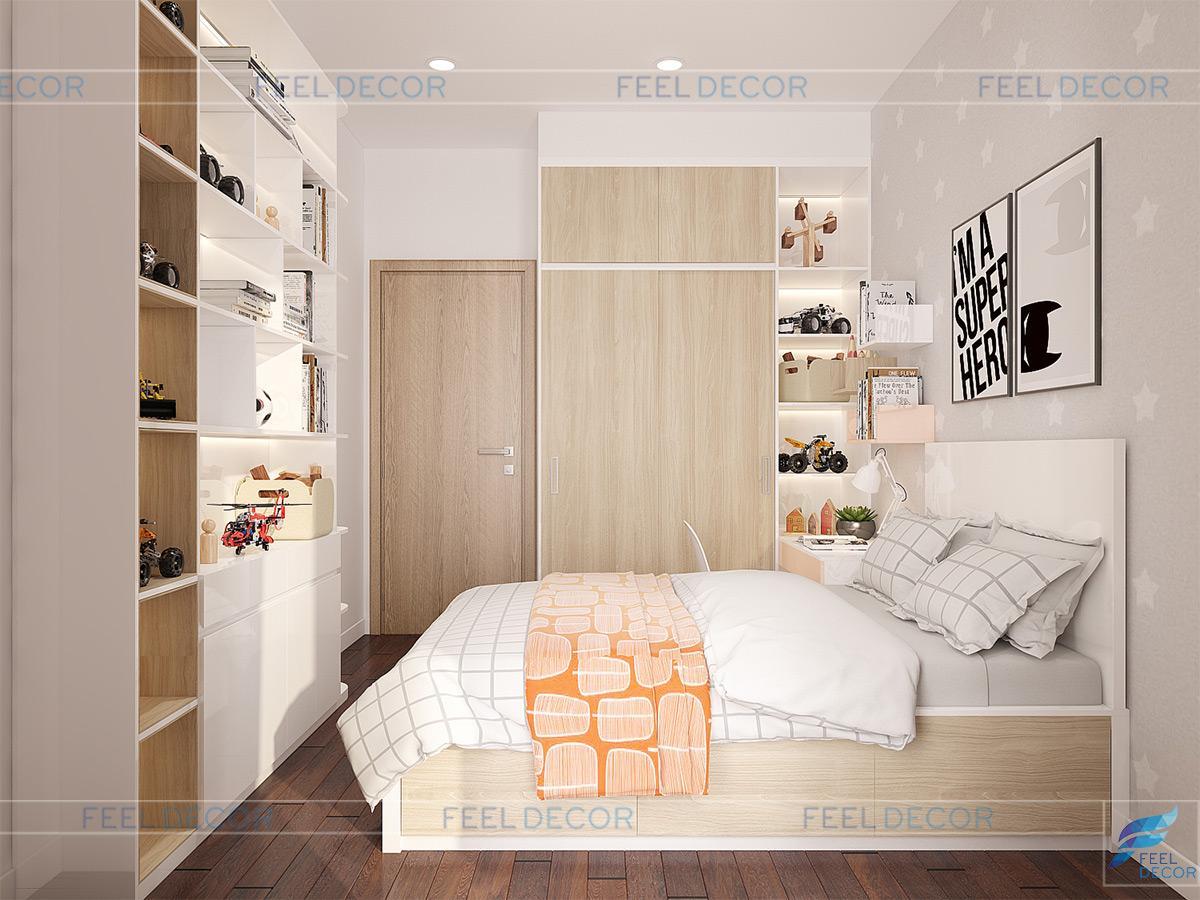 Thiết kế thi công nội thất căn hộ 94m2 2 phòng ngủ chung cư Richstar – Chủ đầu tư anh Bình