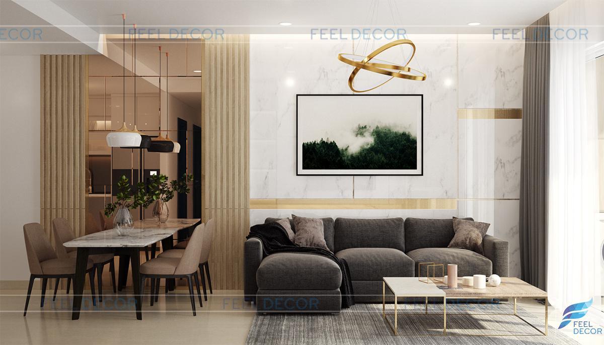 Thiết kế thi công nội thất căn hộ 97m2 chung cư Sunrise Riverside – Chủ đầu tư Chị Thảo