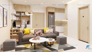 Thiết kế thi công nội thất căn hộ chung cư The South Dragon – Chủ đầu tư chị Hoa