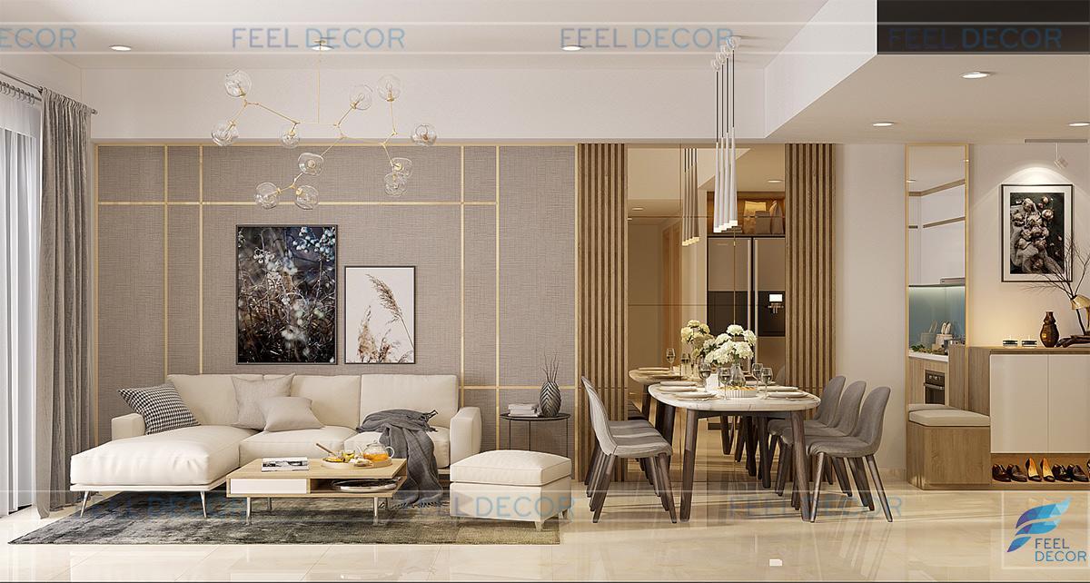 Thiết kế thi công nội thất căn hộ 95m2 chung cư Botanica Premier Novaland