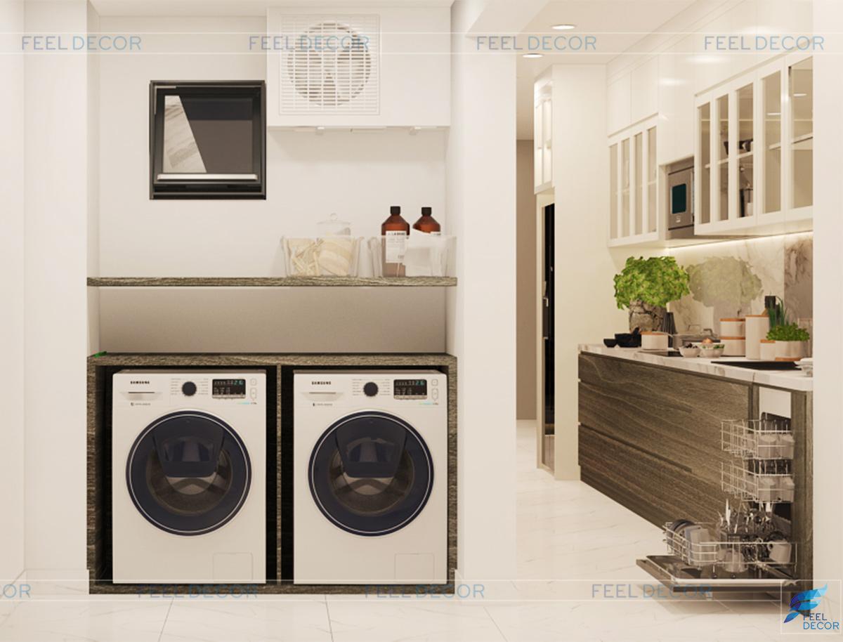 Thiết kế thi công nội thất phòng khách căn hộ 92m2 chung cư Hà Đô Centrosa Garden