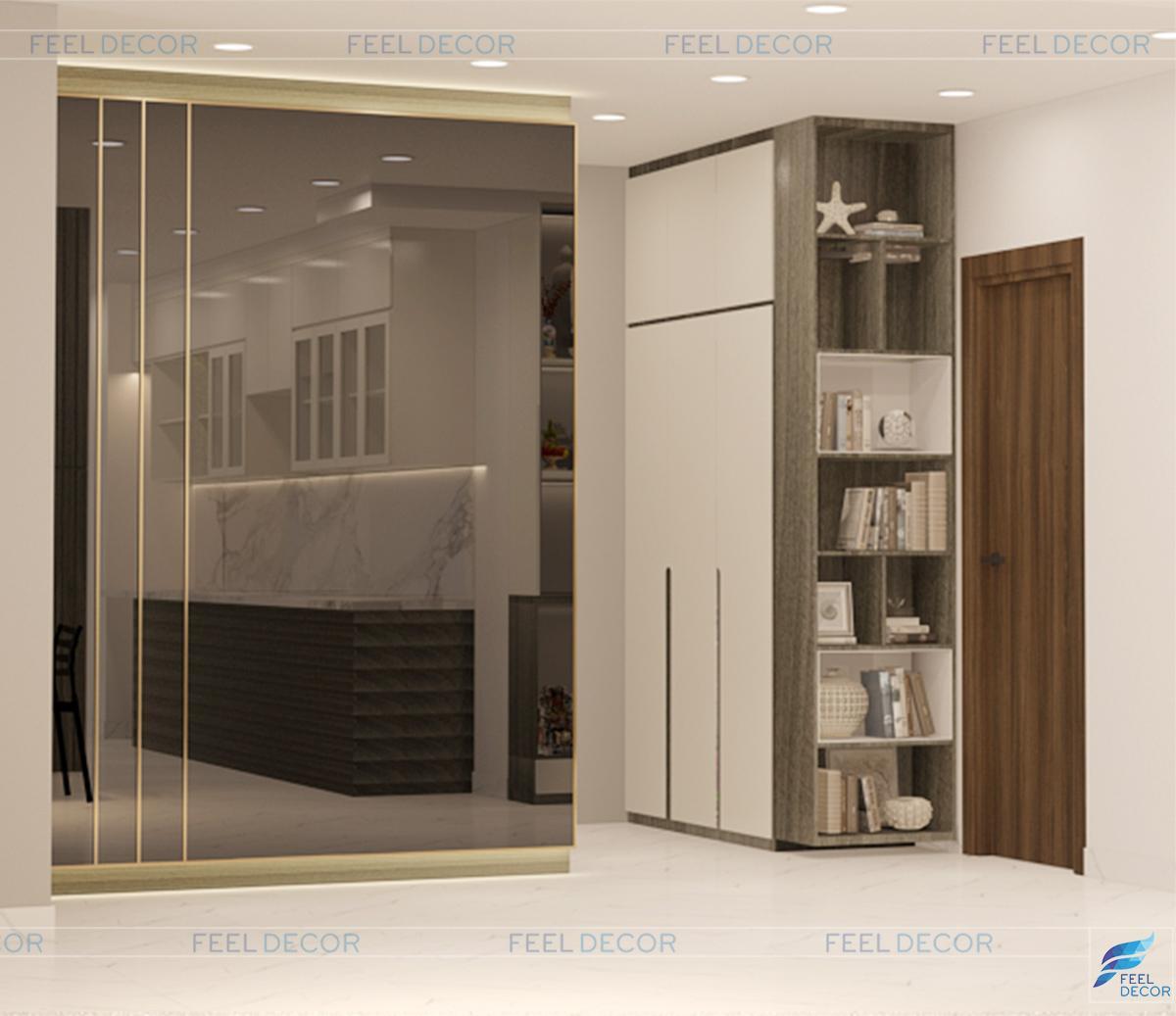 Thiết kế thi công nội thất căn hộ 92m2 chung cư Hà Đô Centrosa Garden