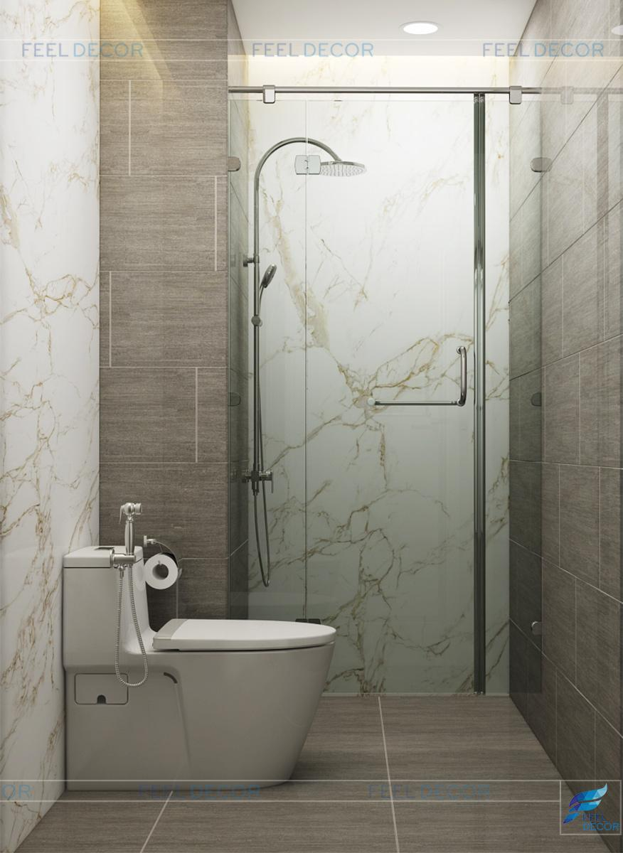 Thiết kế nội thất phòng vệ sinh căn hộ 79m2 chung cư Hà Đô Centrosa Garden