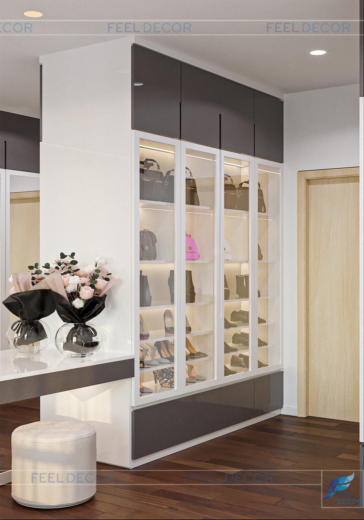 Thiết kế thi công nội thất căn hộ chung cư The Sun Avenue – Chủ đầu tư chị Kim