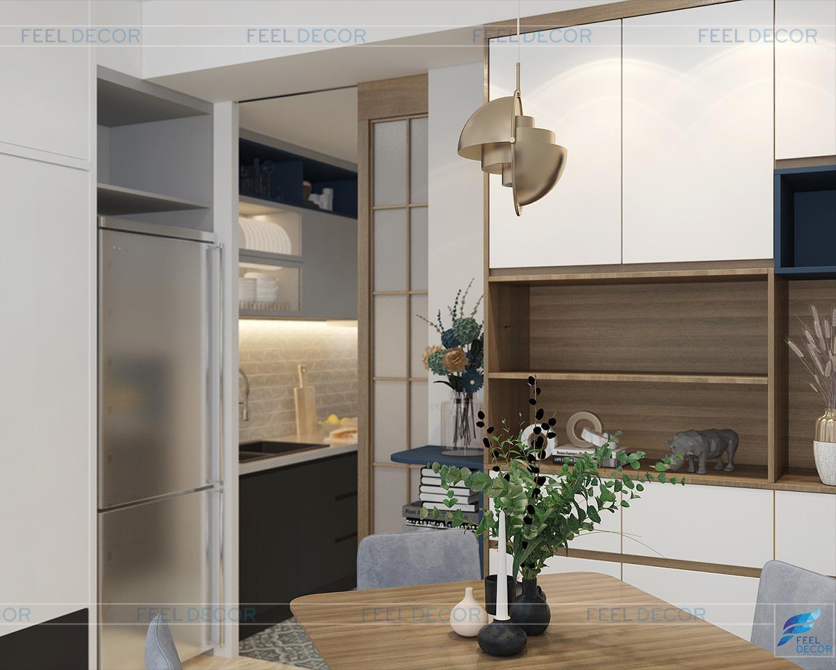 Thiết kế nội thất căn hộ Officetel 30m2 chung cư Millennium Masteri