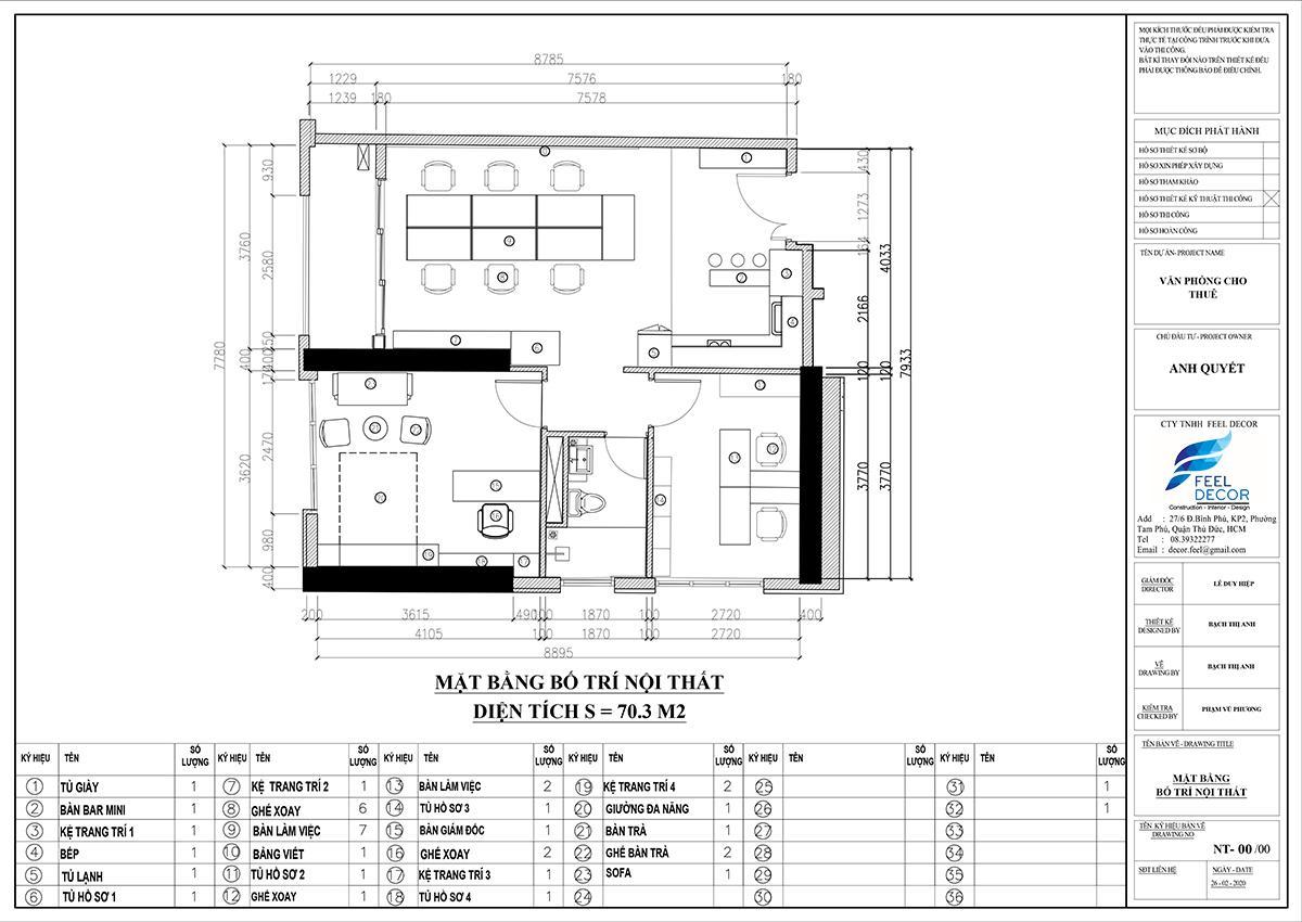hiết kế thi công nội thất căn hộ Officetel chung cư Saigon Royal