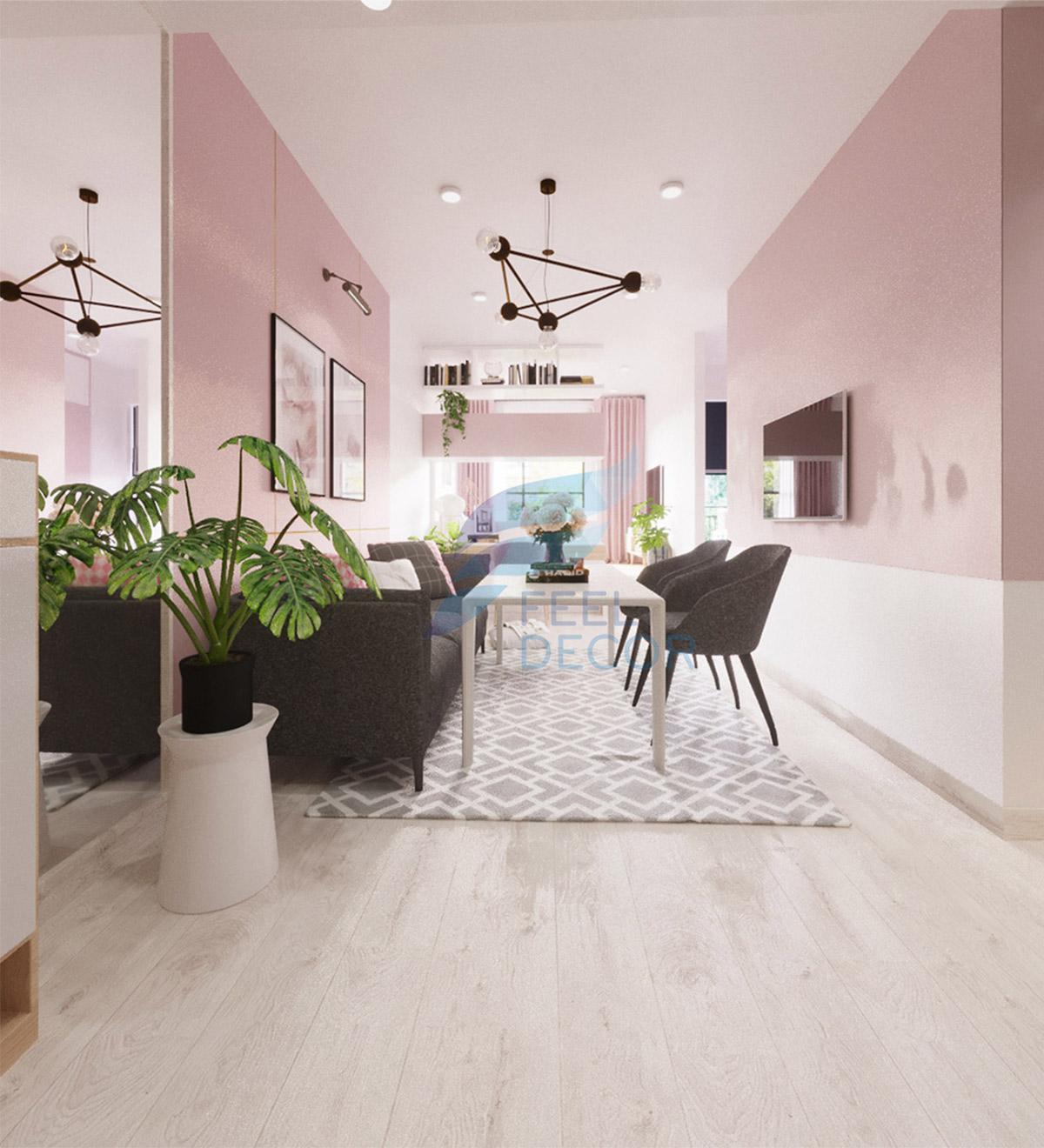 Thiết kế thi công nội thất căn hộ Officetel chung cư Saigon Royal – Chủ đầu tư chị Ngọc