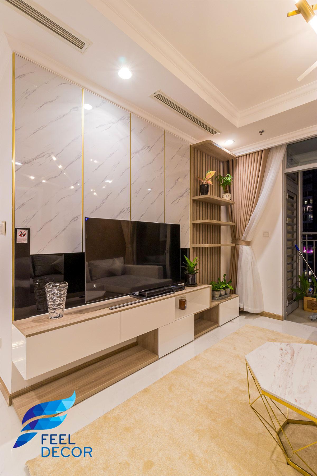 Thiết kế thi công nội thất căn hộ Vinhomes Central Park – Chủ đầu tư Chị Nguyên