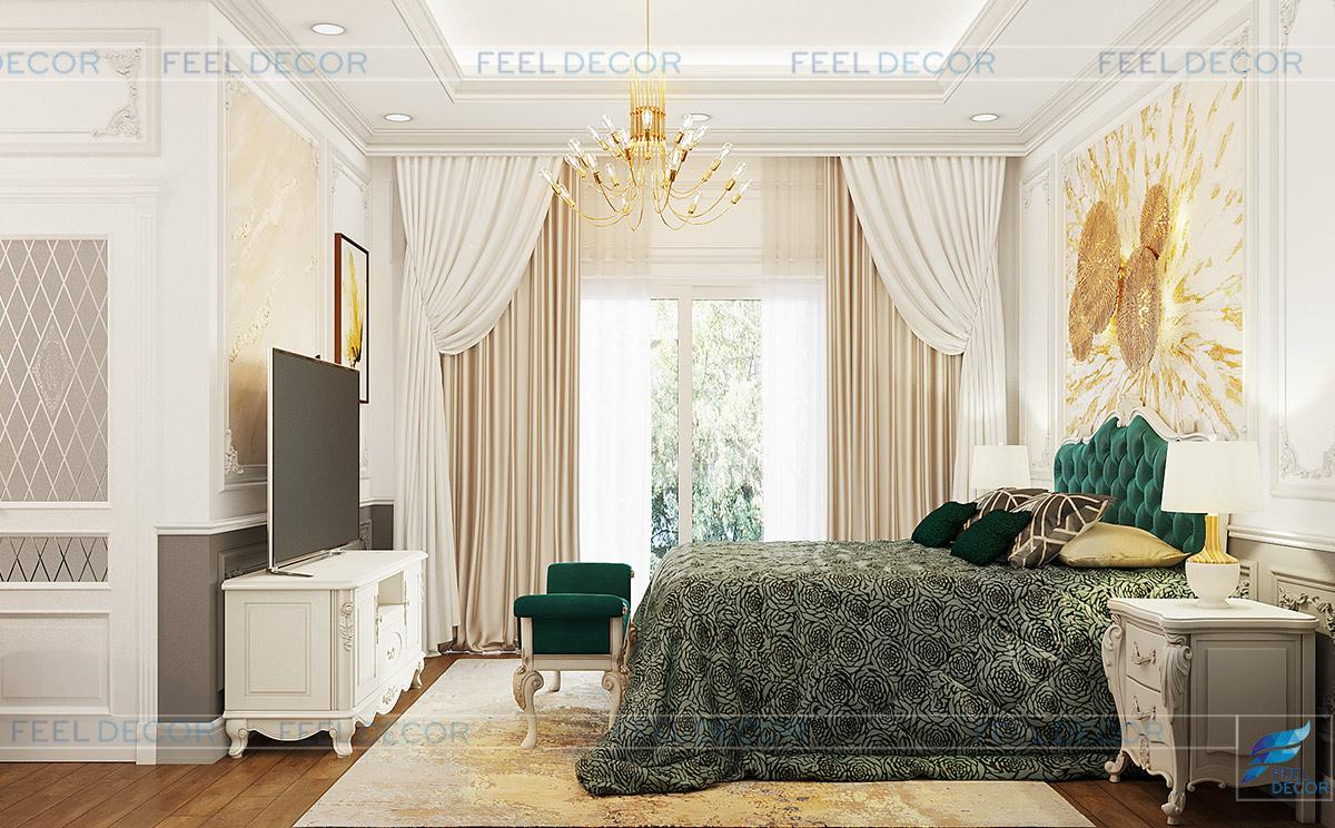 Thiết kế nội thất phòng ngủ Master biệt thự Lavila