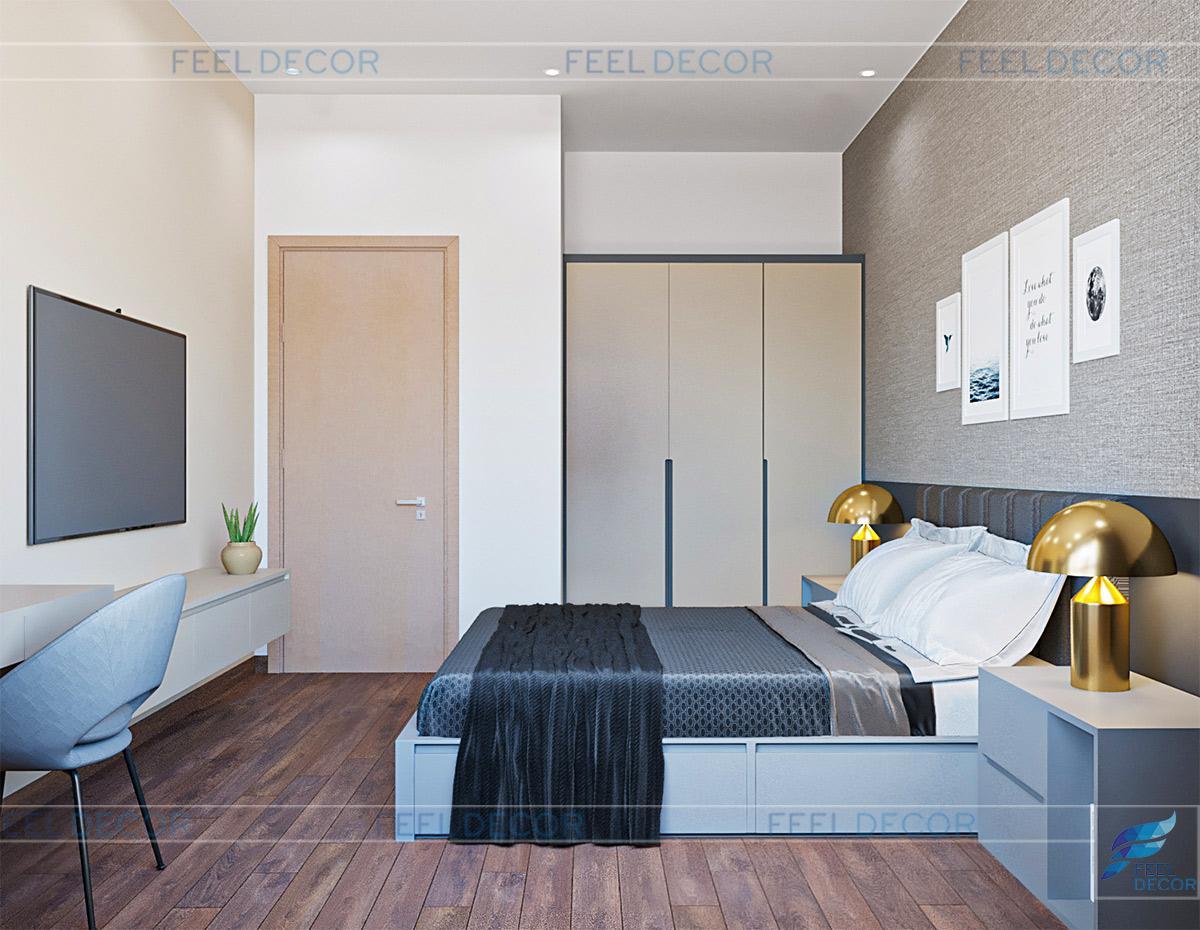 Thiết kế nội thất căn hộ 48m2 1 phòng ngủ chung cư Botanica Premier - Chủ đầu tư Chị Hà