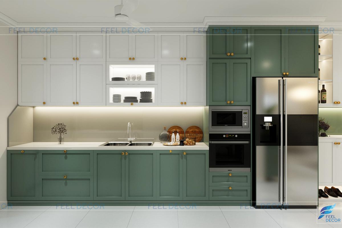 Thiết kế nội thất phòng bếp chung cư Celadon city