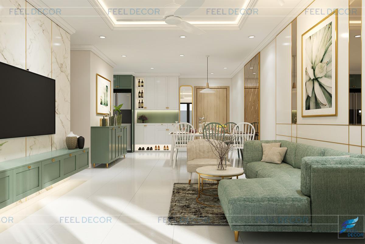 Thiết kế nội thất phòng khách chung cư Celadon city