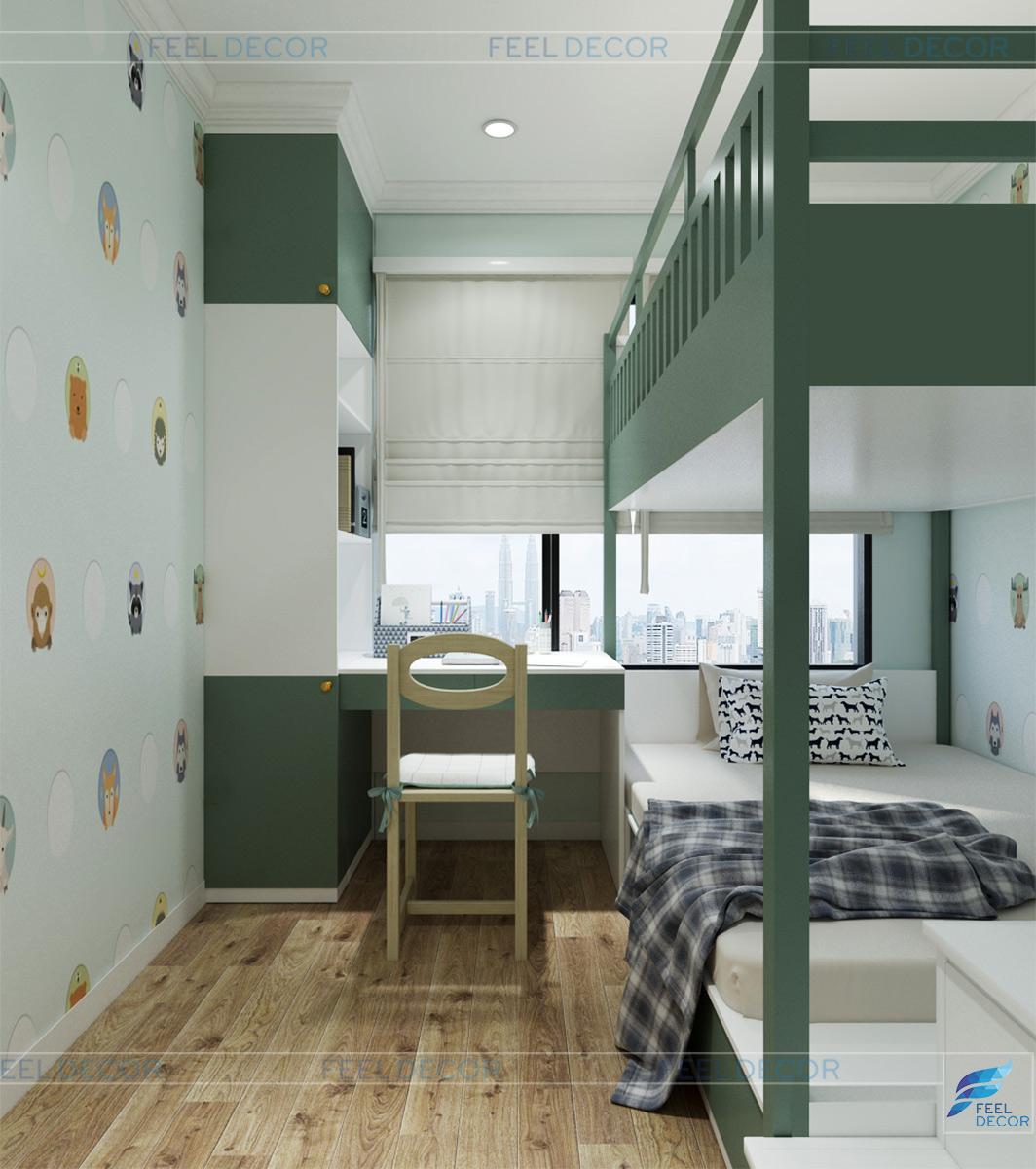 Thiết kế nội thất phòng ngủ trẻ em chung cư Celadon city