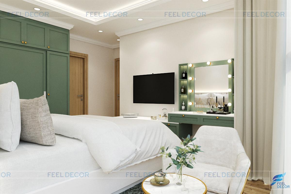 Thiết kế nội thất phòng ngủ chung cư Celadon city
