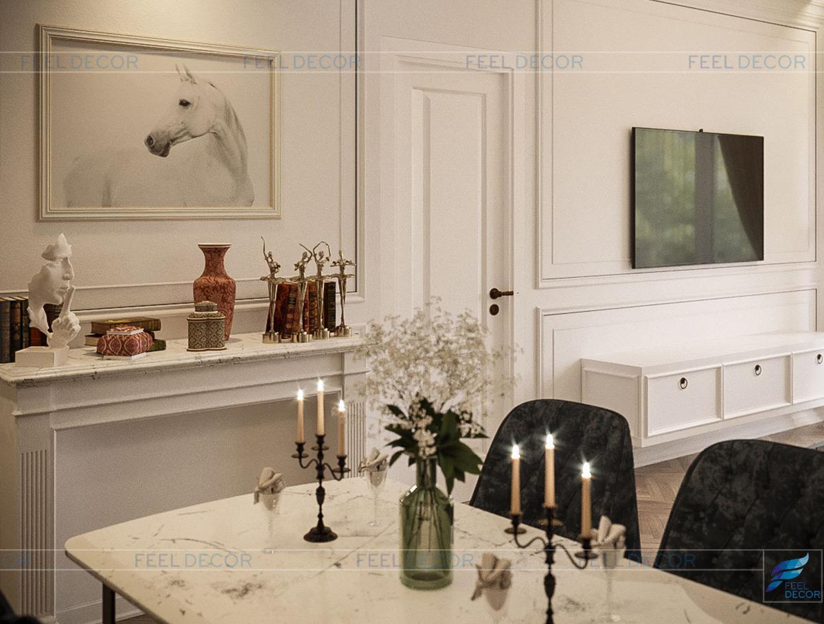 Thiết kế thi công nội thất phòng bếp căn hộ 85m2 chung cư Hà Đô Centrosa