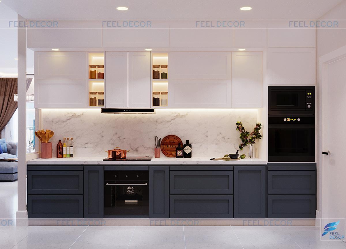 Thiết kế thi công nội thất căn hộ 141m2 3 phòng ngủ chung cư Hà Đô Centrosa