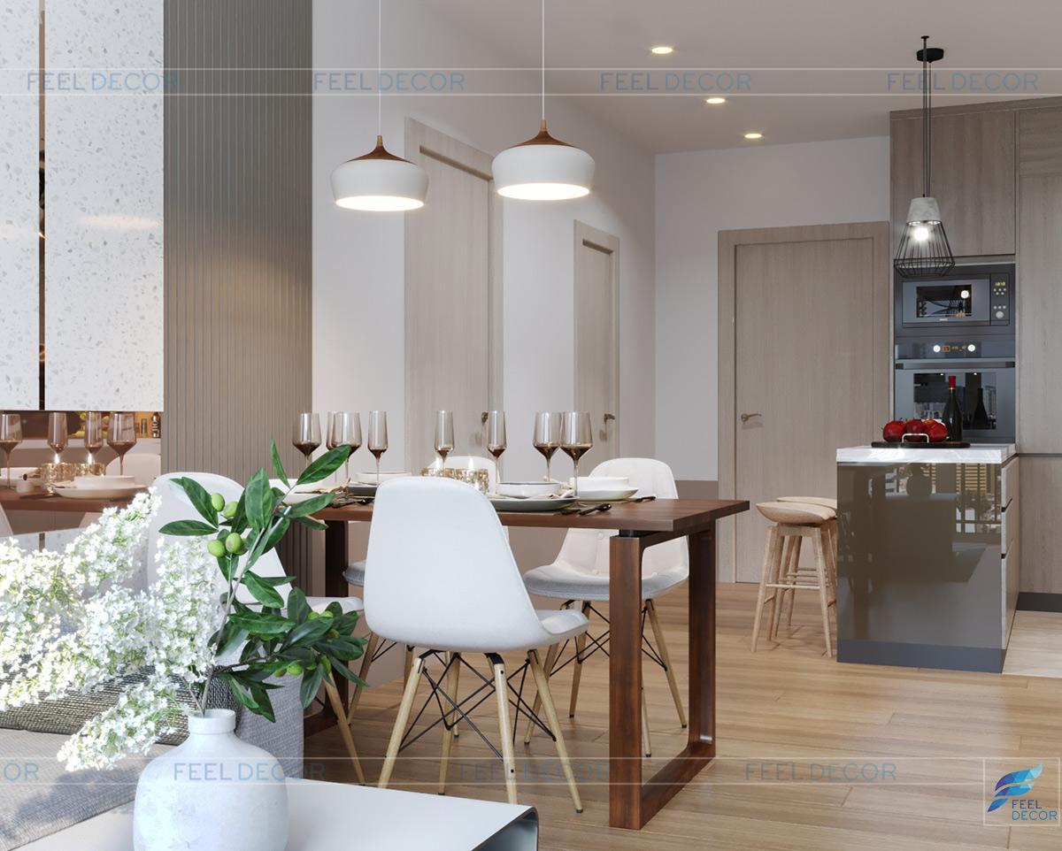 Thiết kế nội thất phòng bếp chung cư Hà Đô Centrosa Garden