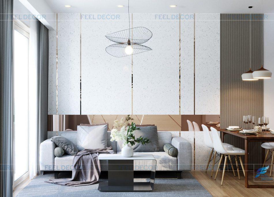 Thiết kế nội thất phòng khách chung cư Hà Đô Centrosa Garden