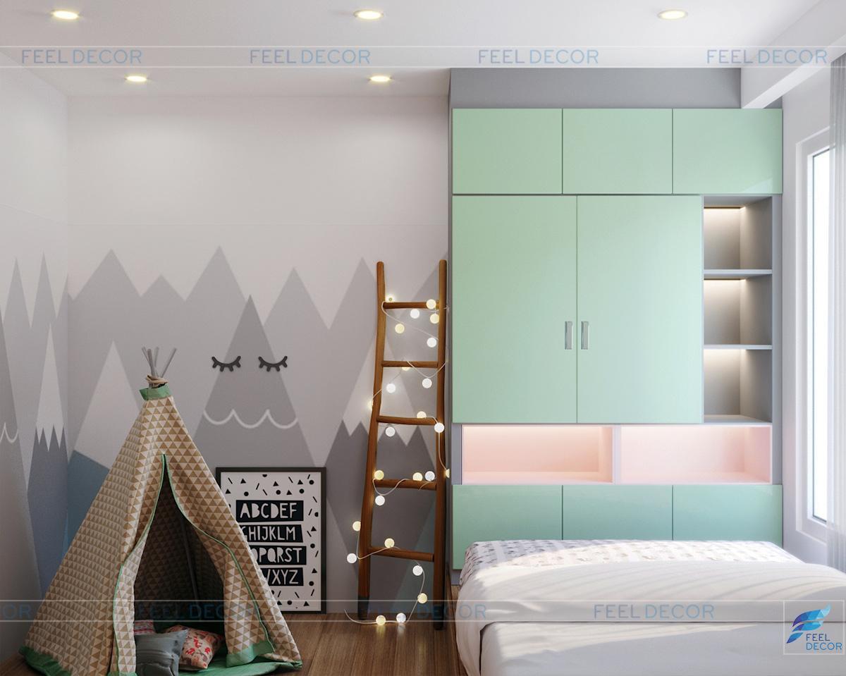 Thiết kế nội thất phòng ngủ trẻ em chung cư Hà Đô Centrosa Garden