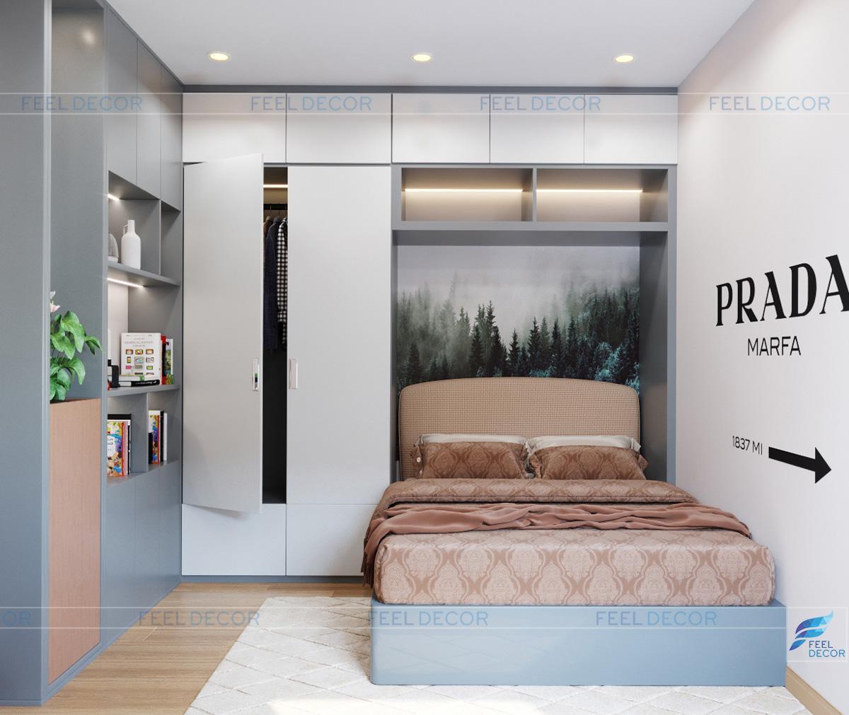 Thiết kế nội thất phòng ngủ chung cư Hà Đô Centrosa Garden