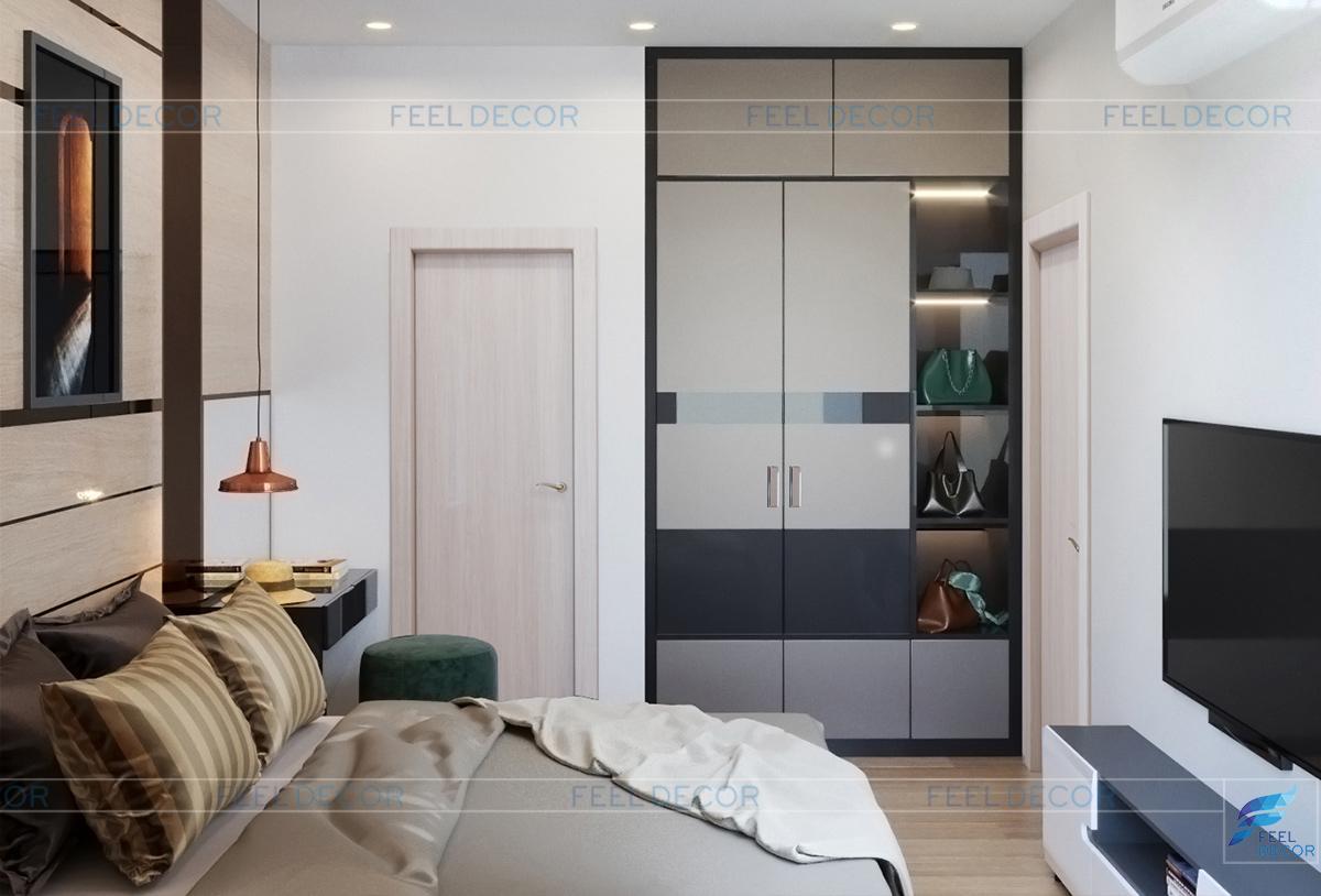 Thiết kế nội thất phòng master chung cư Hà Đô Centrosa Garden