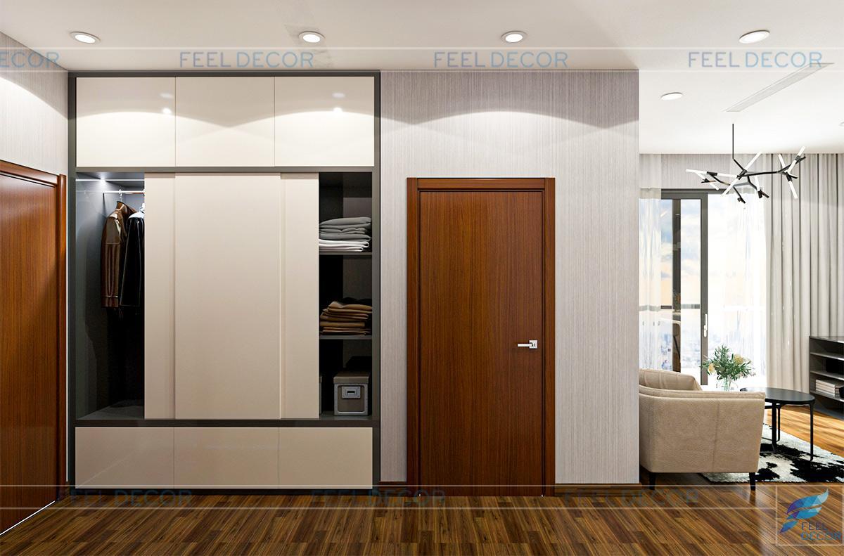 Thiết kế thi công nội thất căn hộ 133m2 3 phòng ngủ chung cư LandMark 6 – Chủ đầu tư anh Khang