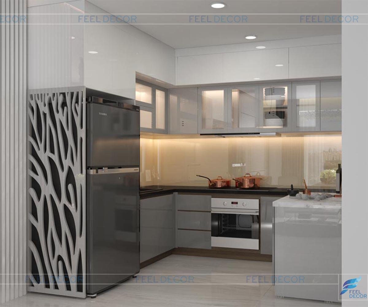 Thiết kế nội thất quầy bếp và lô gia