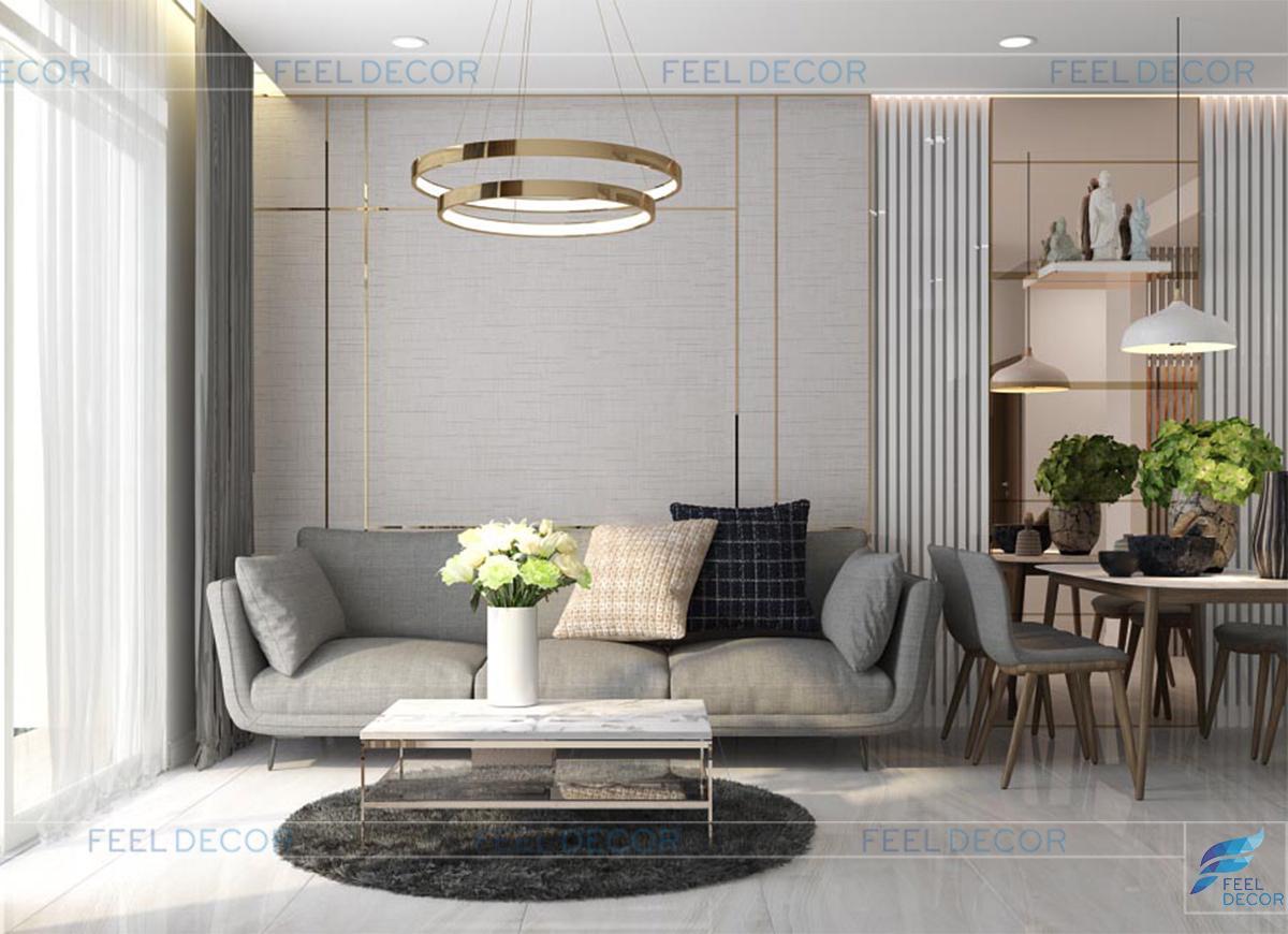 Thiết kế nội thất phòng khách - bếp