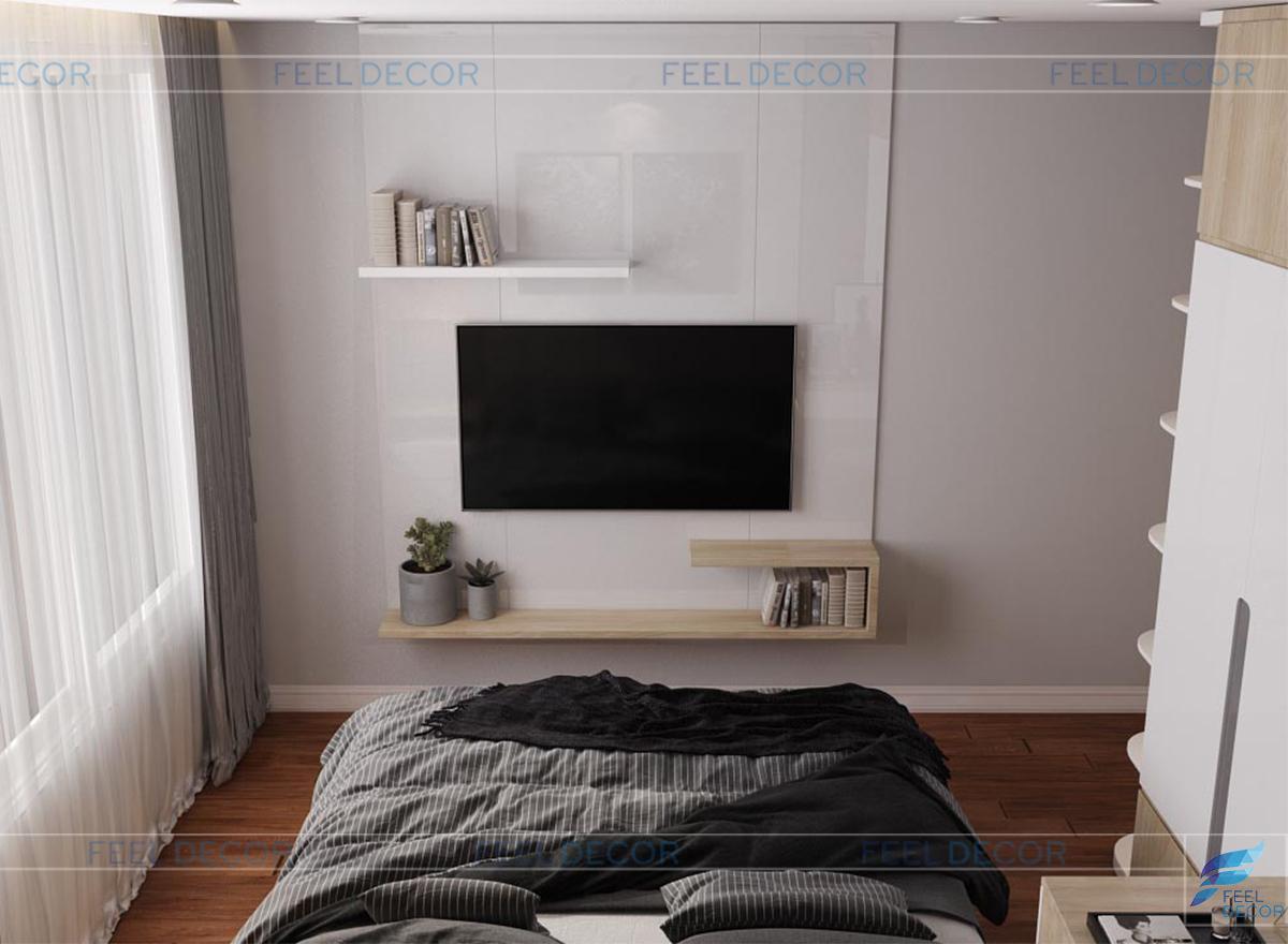 Thiết kế nội thất phòng ngủ Master căn hộ chung cư Orchard