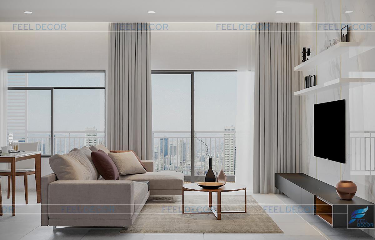 Thiết kế thi công nội thất căn hộ 83m2 chung cư Sunrise Riverside – Chủ đầu tư chị Hiền