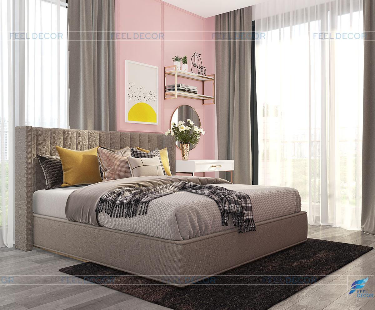 thiết kế phòng ngủ bé gái chung cu vinhome bason