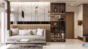 Thiết kế thi công nội thất căn hộ Vinhomes Central Park – Chủ đầu tư chị Nga