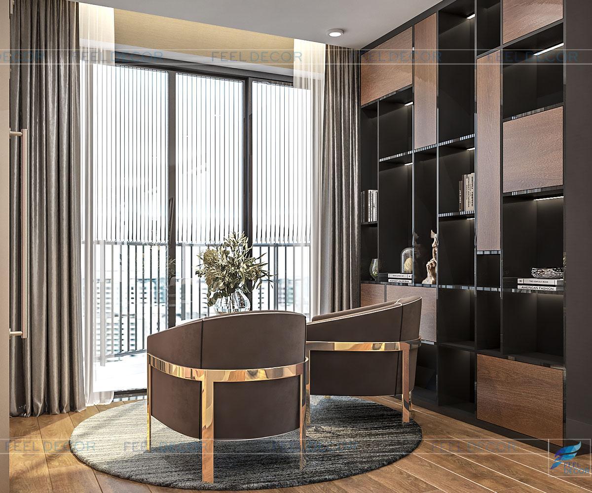 Phòng sinh hoạt chung cư được thiết kế theo phong cách hiện đại