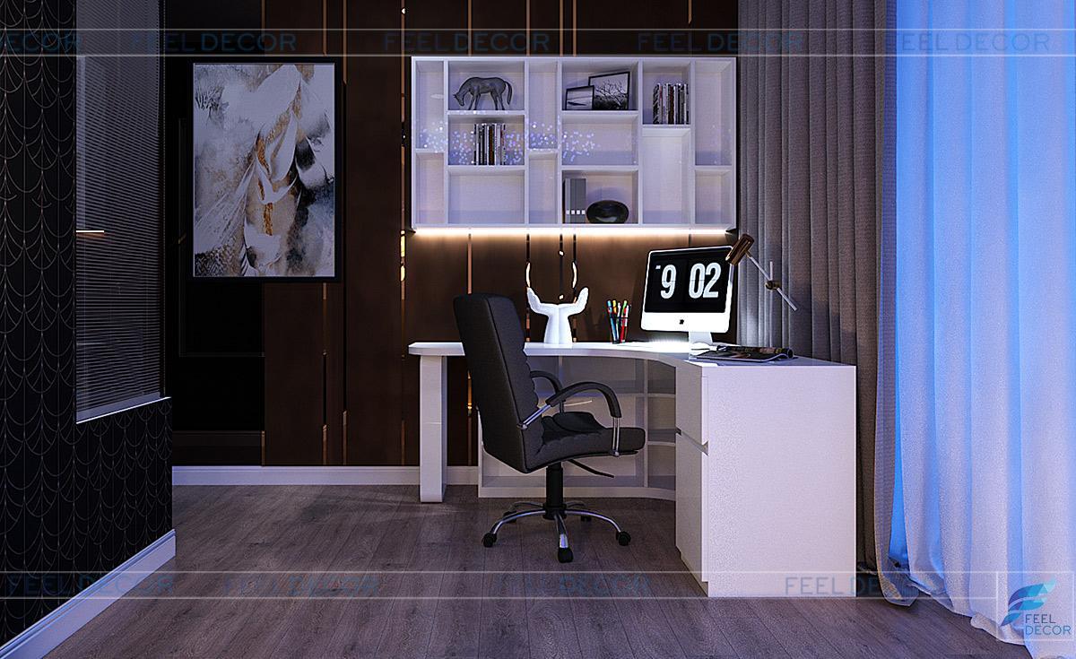 Thiết kế nội thất phòng ngủ master chung cư căn hộ 125m2